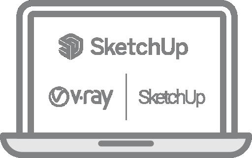 NUOTOLINIAI SketchUp Pro ir V-ray for SketchUp mokymo kursai